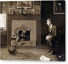 The Magic Football 2 Acrylic Print by Norman Rockwell