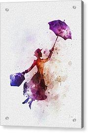 The Magical Nanny Acrylic Print by Rebecca Jenkins