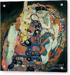 The Maiden Acrylic Print by Gustav Klimt