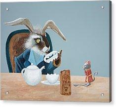 The March Hare Acrylic Print by Joe Odonovan