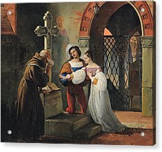 The Marriage Of Romeo And Juliet  Acrylic Print by Francesco Hayez