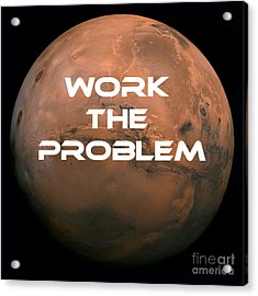 The Martian Work The Problem Acrylic Print by Edward Fielding