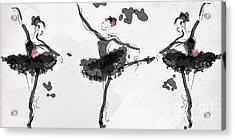 The Met Debut - Dancers In Black Acrylic Print by Jodi Pedri
