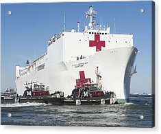 The Military Sealift Command Hospital Ship Usns Comfort Acrylic Print by Celestial Images