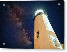 The Milky Way Over Pemaquid Point Acrylic Print by Rick Berk