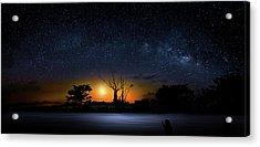 The Milky Way Tree Acrylic Print by Mark Andrew Thomas