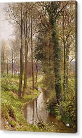 The Mill Stream Acrylic Print by Henry Sutton Palmer