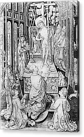 The Miracle Of Transubstantiation Acrylic Print by German School