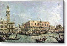 The Molo And The Piazzetta San Marco Acrylic Print by Canaletto