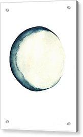 The Moon Watercolor Poster Acrylic Print by Joanna Szmerdt