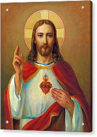 The Most Sacred Heart Of Jesus Acrylic Print by Svitozar Nenyuk