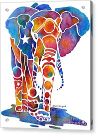 The Most Whimsical Elephant Acrylic Print by Jo Lynch