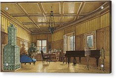 The Music Room Of Archduchess Margarete  Princess Of Saxony Acrylic Print by Heinrich Von Forster