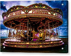 The Mystical Dragon Chariot Acrylic Print by Chris Lord