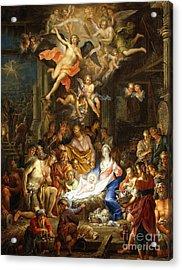 The Nativity Acrylic Print by Franz Christopher Janneck