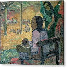 The Nativity Acrylic Print by Paul Gauguin