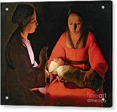 The New Born Child Acrylic Print by Georges de la Tour