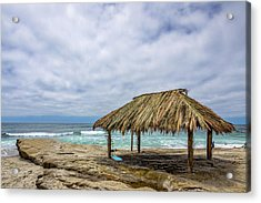 The New Surf Hut At Windandsea Acrylic Print by Peter Tellone