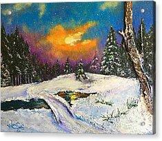 The Night Before Christmas Acrylic Print by Viktoriya Sirris