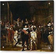 The Nightwatch Acrylic Print by Rembrandt