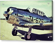 The North American Aviation T-6 Texan Plane Color Edition Acrylic Print by Tony Grider