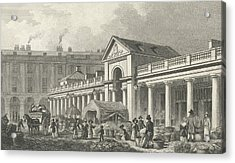 The North West Facade Of The New Covent Garden Market Acrylic Print by Thomas Hosmer Shepherd