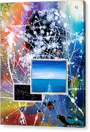The Ocean Dawn Acrylic Print by Lee Pantas