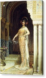 The Odalisque Acrylic Print by Edouard Frederic Wilhelm Richter