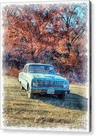 The Old Ford On The Side Of The Road Acrylic Print by Edward Fielding