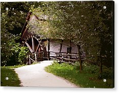 The Old Grist Mill Acrylic Print by Elaine Plesser