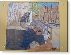 The Old North Bridge In Concord Ma Acrylic Print by William Demboski