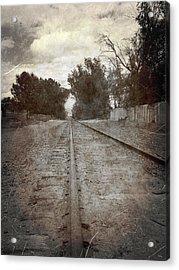 The Old Railroad Tracks Acrylic Print by Glenn McCarthy Art and Photography