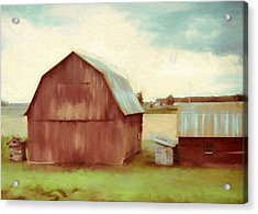 The Old Red Barn Acrylic Print by Dan Sproul