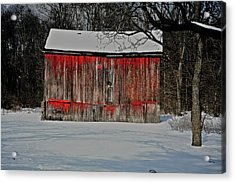 The Old Weathered Barn Acrylic Print by Robert Pearson