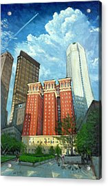 The Omni William Penn Hotel Acrylic Print by Erik Schutzman