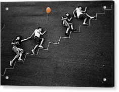 The Orange Balloon Acrylic Print by Nicolino Sapio