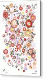 The Orbits Of Joy Acrylic Print by Regina Valluzzi