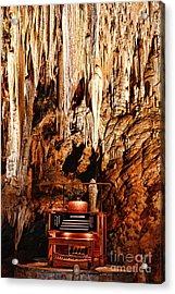 The Organ In The Cavern Acrylic Print by Paul Ward