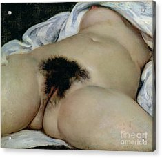 The Origin Of The World Acrylic Print by Gustave Courbet