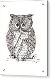 The Owl's Who Acrylic Print by Paula Dickerhoff