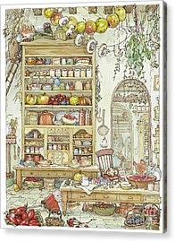 The Palace Kitchen Acrylic Print by Brambly Hedge