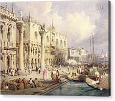 The Palaces Of Venice Acrylic Print by Samuel Prout