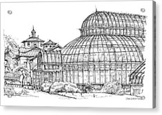 The Palm House In Brooklyn  Acrylic Print by Building  Art