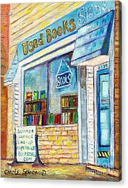 The Paperbacks Plus Book Store St Paul Minnesota Acrylic Print by Carole Spandau