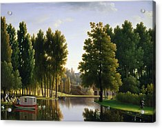 The Park At Mortefontaine Acrylic Print by Jean Bidauld