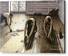 The Parquet Planers Acrylic Print by Gustave Caillebotte