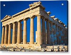 The Parthenon Acrylic Print by Inge Johnsson