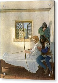 The Passing Of Robin Hood Acrylic Print by Newell Convers Wyeth