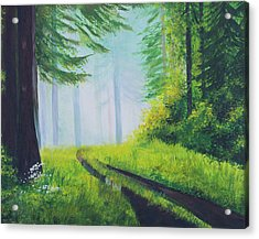 The Path In The Woods. Forest In Spring. Acrylic Print by Elena Pavlova