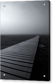 The Path Acrylic Print by Mike  Dawson
